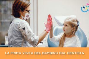 Prima visita della bambina dal dentista