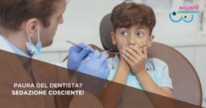 Bambino ha paura del dentista